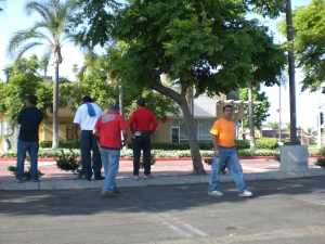 Day laborers Upland Home Depot